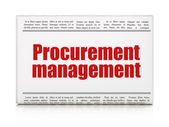 Business concept: newspaper headline Procurement Management — Stock Photo