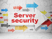 Security concept: arrow with Server Security on grunge wall background — Stock Photo