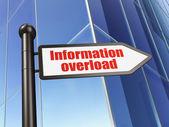 Information concept: sign Information Overload on Building background — Stok fotoğraf