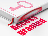 Security concept: book Key, Access Granted on white background — Stock Photo