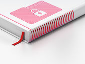 Business concept: closed book, Folder With Lock on white background — Стоковое фото