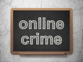 Protection concept: Online Crime on chalkboard background — Stock Photo
