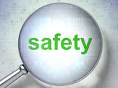 Security concept: Safety with optical glass — Stock Photo