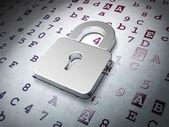 Koncept dat: zamčený zámek na kód v šestnáctkové soustavě pozadí — Stock fotografie