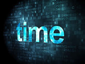 Timeline concept: Time on digital background — Stock Photo
