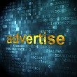 Marketing concept: Advertise on digital background — Stock Photo #39373369