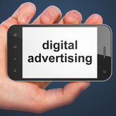 Advertising concept: Digital Advertising on smartphone — Stock Photo