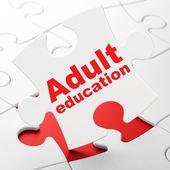 Eğitim kavramı: bulmaca arka plan üzerinde yetişkin eğitimi — Stok fotoğraf