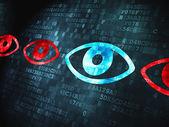 Security concept: Eye on digital background — Zdjęcie stockowe