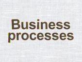 Concepto del negocio: los procesos de negocio en tela textura de fondo — Foto de Stock