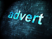 Advertising concept: Advert on digital background — Stock Photo