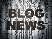 News concept: circuit board with Blog News — Stock Photo