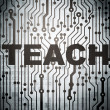 图库照片: Education concept: circuit board with Teach