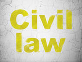 Law concept: Civil Law on wall background — ストック写真