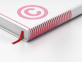 Lag koncept: stängd bok, copyright på vit bakgrund — Stockfoto