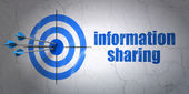 Information concept: target and Information Sharing on wall background — Stock Photo