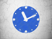 Timeline concept: Clock on wall background — Stok fotoğraf