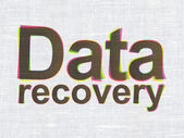 Information concept: Data Recovery on fabric texture background — Stock Photo
