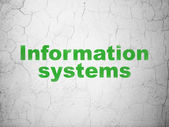 Data concept: Information Systems on wall background — Stock Photo