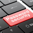 Privacy concept: Password Security on computer keyboard background — Stock Photo #39617359