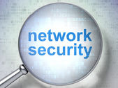 Protection concept: Network Security with optical glass — Stock Photo