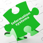 Data concept: Information Systems on puzzle background — Stock Photo