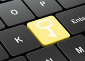 Security concept: Key on computer keyboard background — Stock Photo