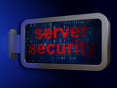 Safety concept: Server Security on billboard background — Stockfoto