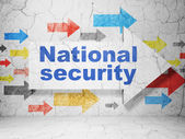 Privacy concept: arrow with National Security on grunge wall background — Stock Photo