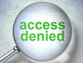 Privacy concept: Access Denied with optical glass — Stock Photo