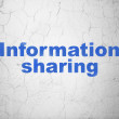 Datconcept: Information Sharing on wall background — Stock Photo #39628779