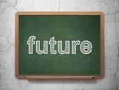 Time concept: Future on chalkboard background — Stockfoto