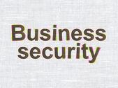 隐私权的概念: 企业安全对织物纹理背景 — 图库照片