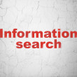 Information concept: Information Search on wall background — Stock Photo #39636853
