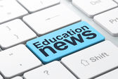 News concept: Education News on computer keyboard background — Stock Photo