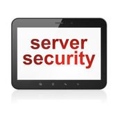 Security concept: Server Security on tablet pc computer — Stockfoto
