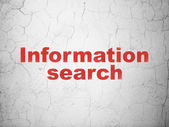 Information concept: Information Search on wall background — Stock Photo