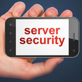 Security concept: Server Security on smartphone — Stock Photo
