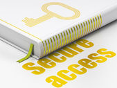 Protection concept: book Key, Secure Access on white background — Stock Photo
