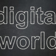Information concept: Digital World on chalkboard background — Stock Photo #39672493