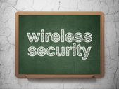Safety concept: Wireless Security on chalkboard background — Stockfoto