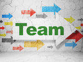 Business concept: arrow with Team on grunge wall background — Stock Photo