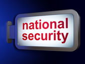 Protection concept: National Security on billboard background — Stock Photo