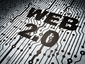 Web development concept: circuit board with Web 2.0 — Stock Photo