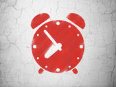 Time concept: Alarm Clock on wall background — Foto Stock