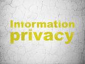 Security concept: Information Privacy on wall background — Stock Photo