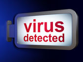 Protection concept: Virus Detected on billboard background — Foto de Stock