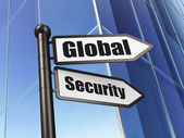 Protection concept: sign Global Security on Building background — Foto de Stock