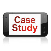 Education concept: Case Study on smartphone — Stock Photo