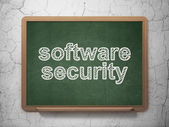 Security concept: Software Security on chalkboard background — Stockfoto